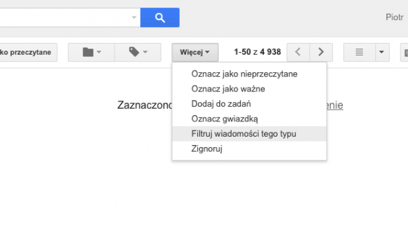 Tworzenie filtrów w Gmailu
