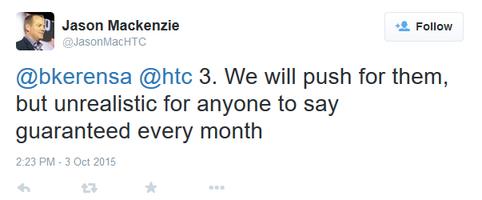 Smartfony HTC - regularne aktualizacje Androida nierealne