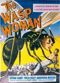 "Plakat do filmu ""The Wasp Woman"""