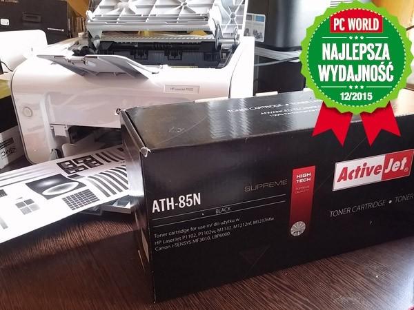 ActiveJet ATH-85N to najwydajniejsze zamienniki oryginalnych materiałów HP CE285A.