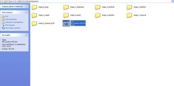 Kopiowanie pliku tron.bat do folderu /resources