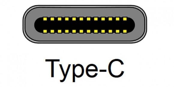Złącze USB typu C – przekrój poprzeczny gniazda (schemat).