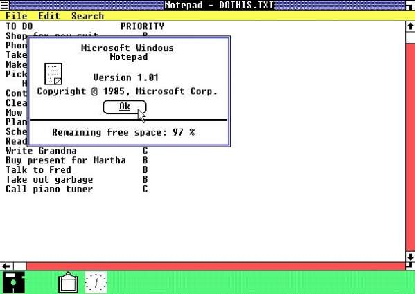 Windows 1.0 - tak to wyglądało na początku