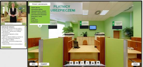 Wirtualny doradca udziela ogólnych informacji dotyczących spraw realizowanych w ZUS