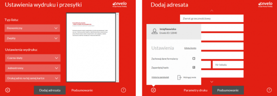 Nadawanie tradycyjnej korespondencji przy użyciu Wirtualnej Drukarki Envelo