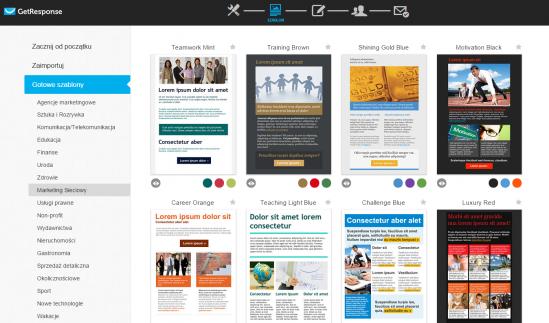 GetResponse: tworzenie nowego newslettera z szablonu