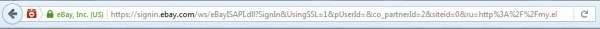 eBay - oryginalny URL logowania