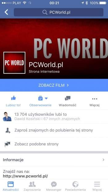 Facebook - aplikacja mobilna