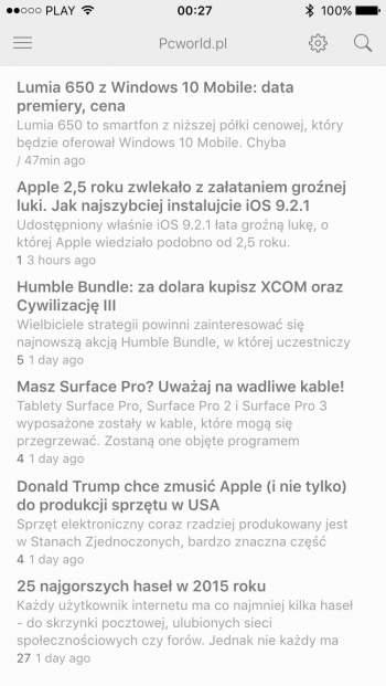 Feedly - aplikacja mobilna