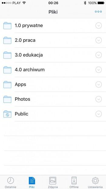 Dropbox - aplikacja mobilna