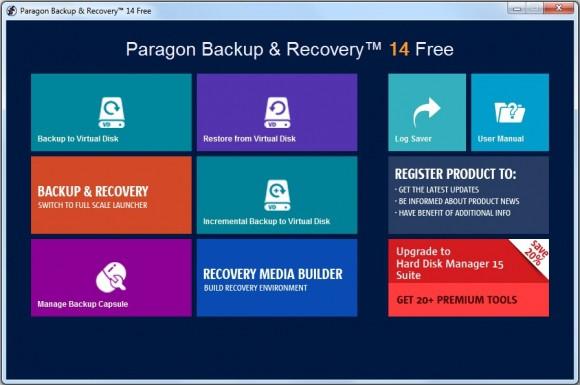 Paragon Backup & Recovery to bardzo funkcjonalny program archiwizujący. Potrafi sporządzać zapasowe kopie całych folderów, partycji i dysków.