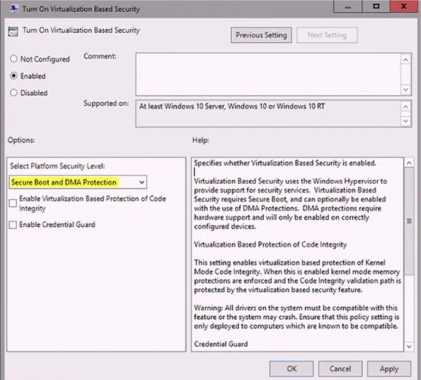 Windows 10 RT wspierać ma Device Guard