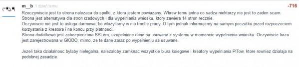 """Michał Białek: komentarz dotyczący strony pozwalającej na wypełnienie wniosku do programu """"Rodzina 500+"""""""