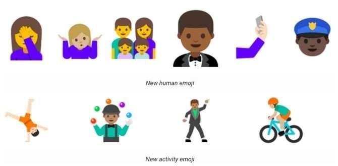 Android N - emotikony