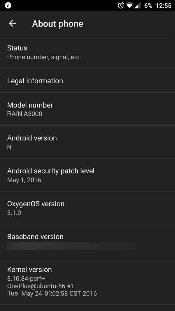 OnePlus 3 - zrzut ekranu