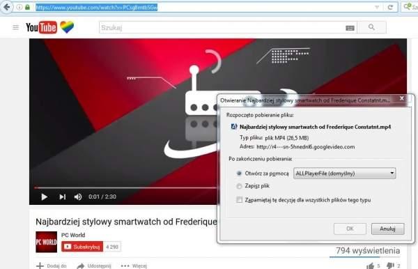 Pobieranie filmów z YouTube