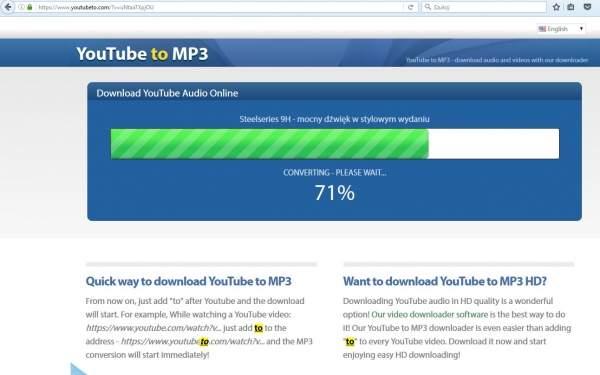 Pobranie MP3 z YouTube