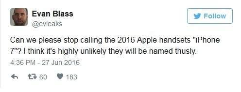 Nowy iPhone - Evan Blass przestrzega przed nazywaniem go iPhonem 7