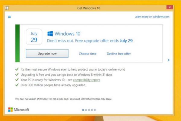 Uzyskaj system Windows 10