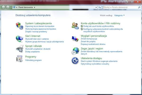 Jak włączyć łączność bezprzewodową w Windows 7