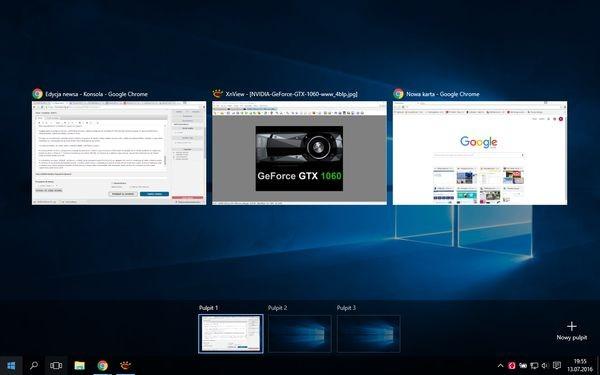 Wirtualne pulpity w Windows 10