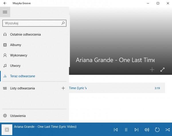 Windows 10: aplikacja Muzyka Groove