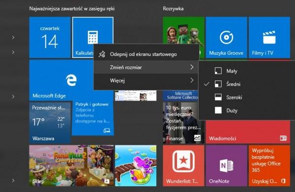 Windows 10: żywe kafelki