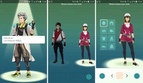 Tworzenie postaci w Pokemon GO