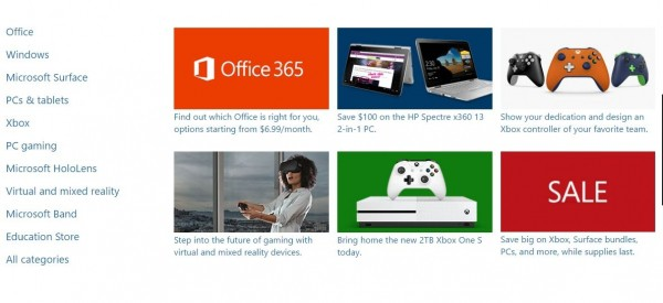Amerykański sklep online Microsoftu