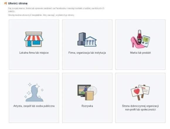 Kategoria strony na FB