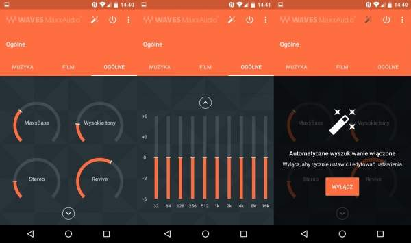 Alcatel idol 4 - program Waves MaxxAudio umożliwiający korekcję dźwięku