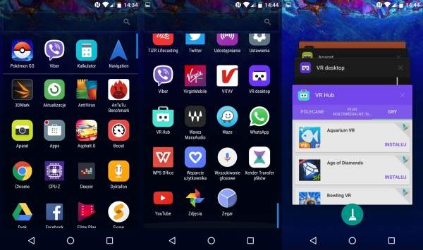 Alcatel ido 4 - menu z aplikacjami i przełącznik aplikacji