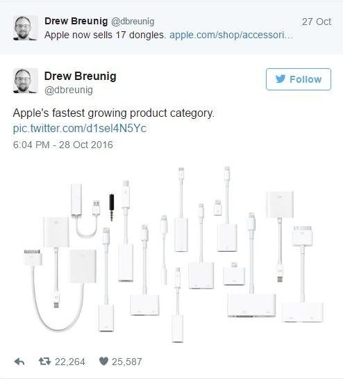 Przejściówki i przewody dostępne w sklepie Apple