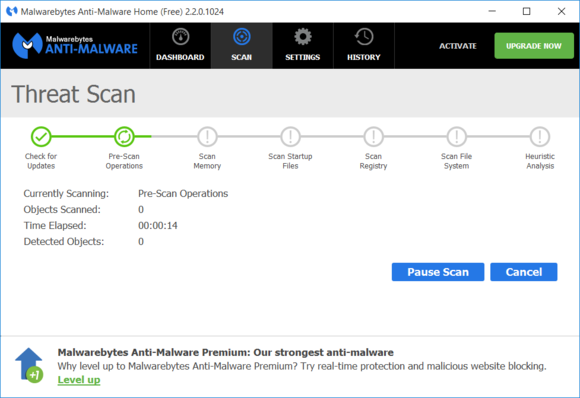 Malwarebytes potrafi usunąć rootkity (konie trojańskie ukryte w standardowych programach) i inne złe aplikacje, których inne programy antywirusowe nie zobaczą. Co ważne, program nie gryzie się z podstawowym programem antywirusowym, który pracuje w systemie.