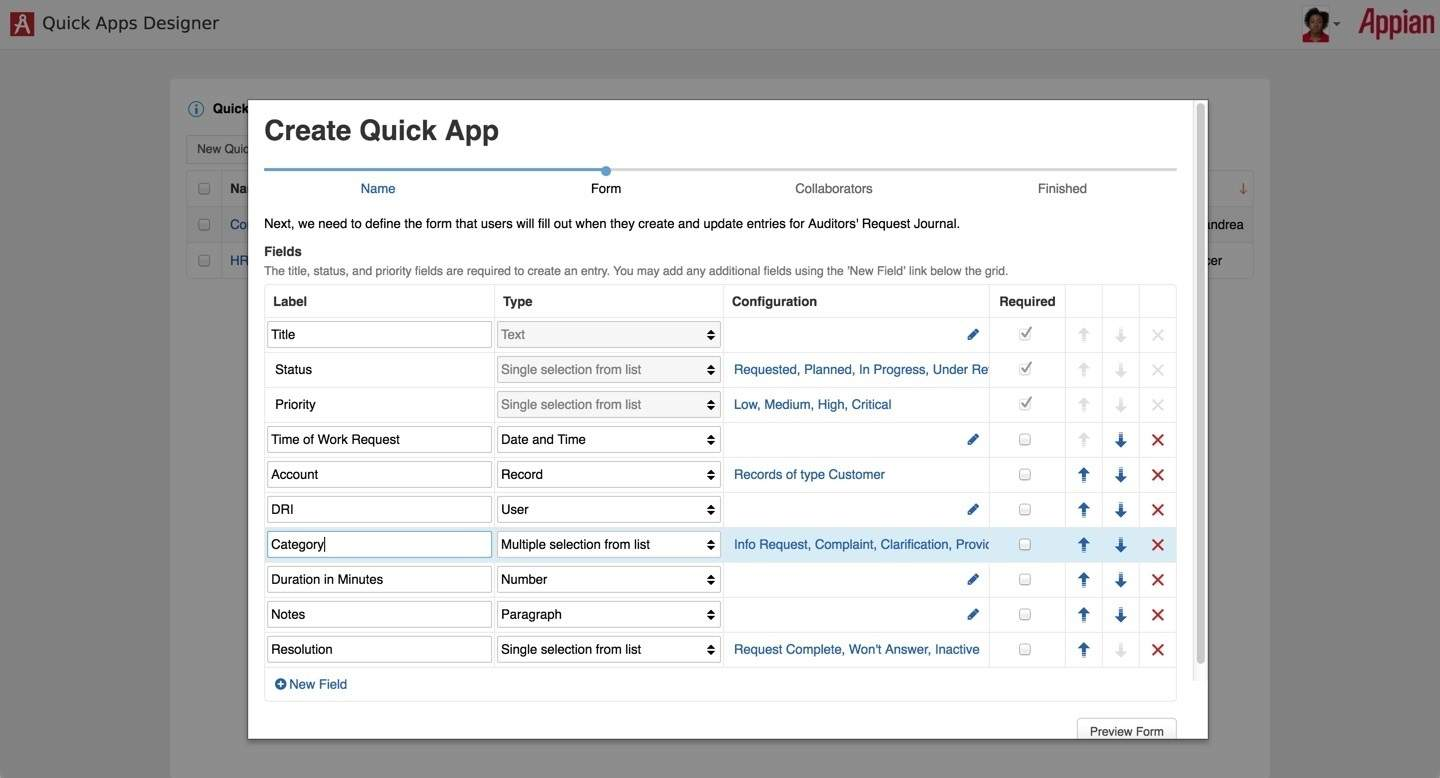 Appian Quick Apps