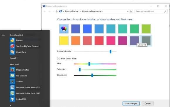 Mikser kolorów Windows 10