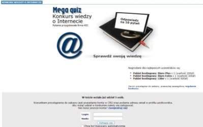 Konkurs wiedzy o Internecie