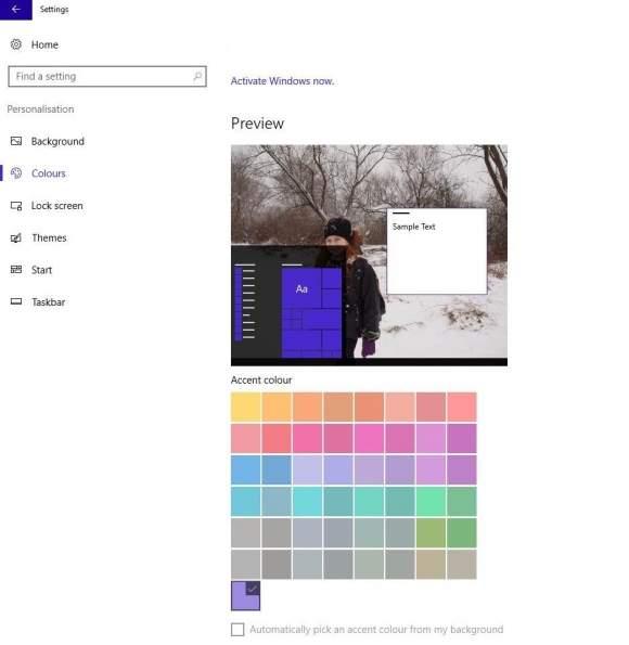Personalizacja Windows 10