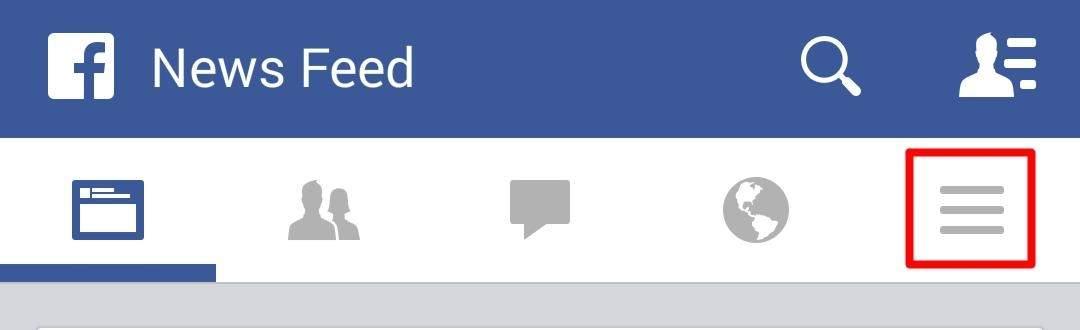 Menu ustawień FB na Androidzie