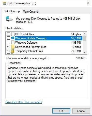 Czyszczenie plików systemowych w Windows 10
