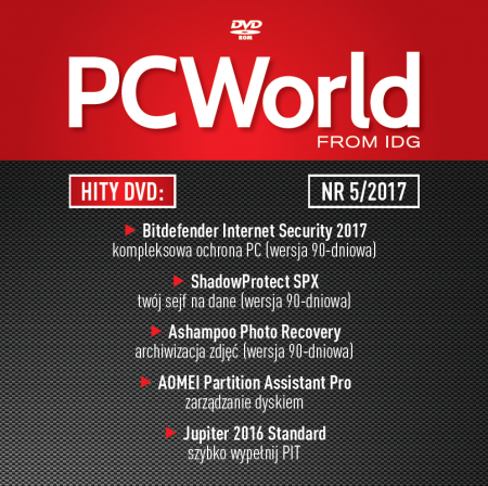 PC World 5/2017 - hity DVD