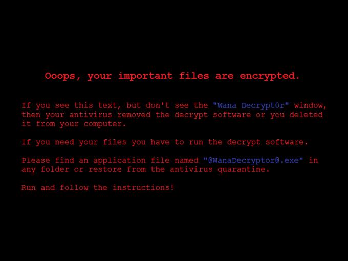 WanaDecrypt0r zmieniał tło pulpitu w zainfekowanym systemie.