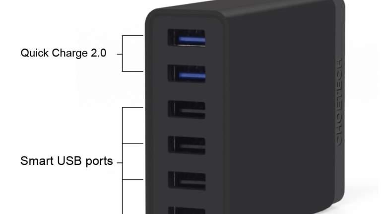 CHOEtech 60W 6-port Desktop USB Charger