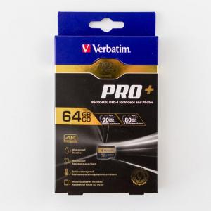 Test karty microSD Verbatim Pro+ microSD