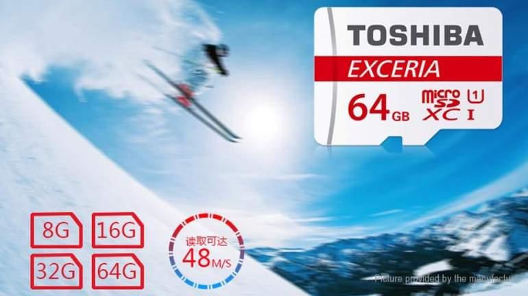 Toshiba Exceria M301 microSD