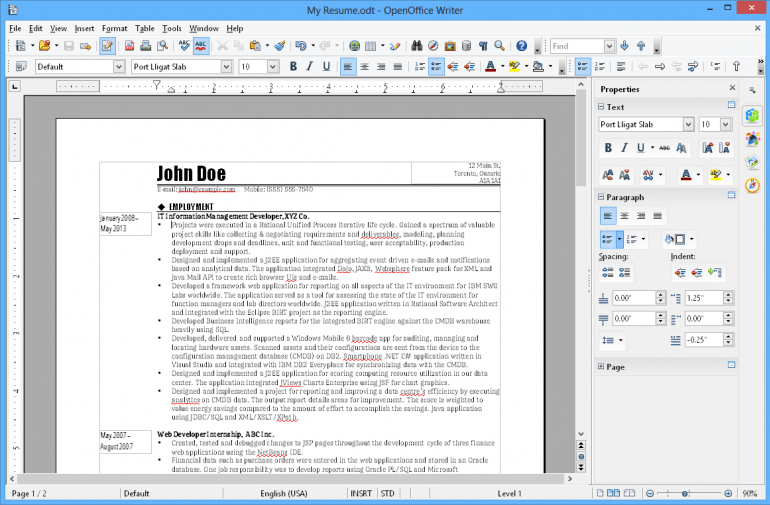OpenOffice Writer - edytor tekstu