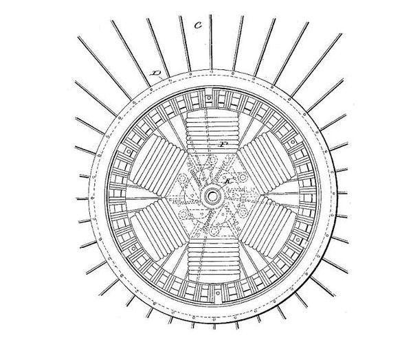 Grafika z wniosku patentowego Ogdena Boltona Jr.