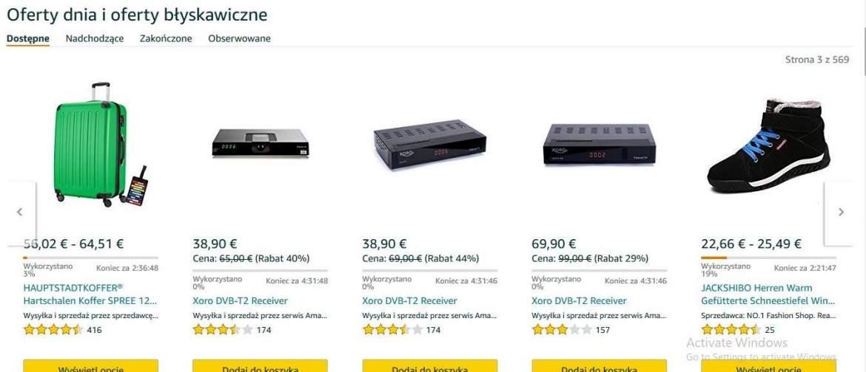 Oferty dnia na Amazon