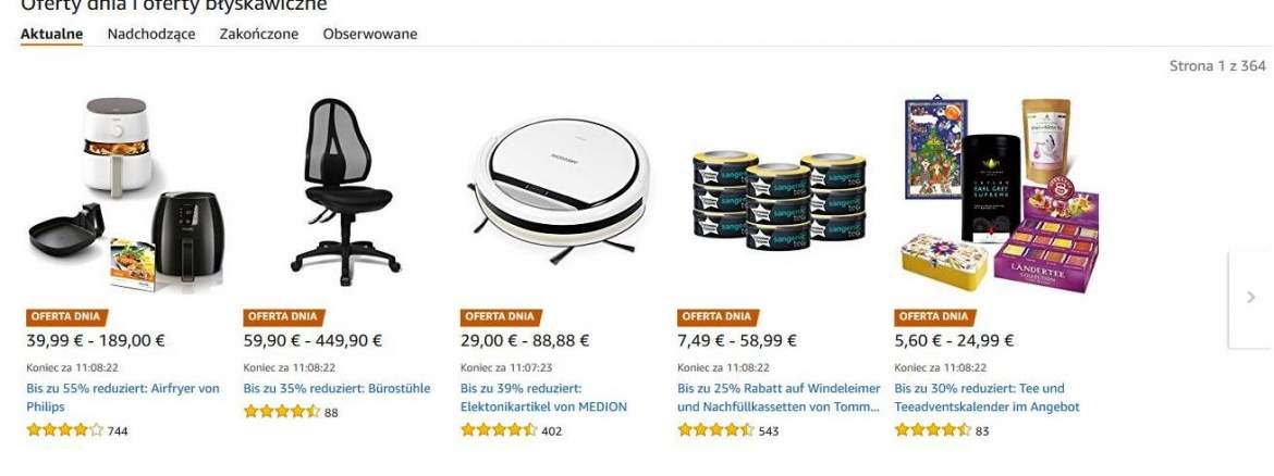 Oferty Amazon na Cyber Monday