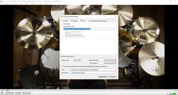VLC umożliwia odtwarzanie i pobieranie materiałów wideo z internetu.